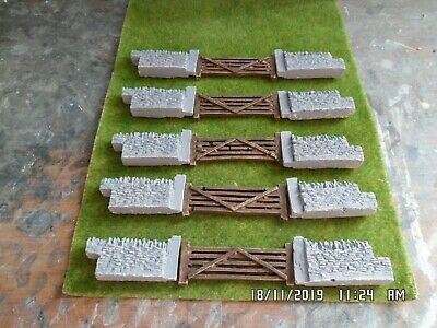£6.99 • Buy 5 Pairs Gates Stone Walling 00 Gauge Scenery Brand New With Gates