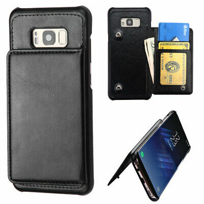 $ CDN13.90 • Buy Samsung GALAXY S8 Slim Hybrid Credit Card Wallet Leather Pouch Case Hard Cover