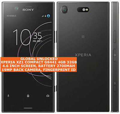 AU674.14 • Buy SONY XPERIA XZ1 COMPACT G8441 4gb 32gb 19mp Caméra 4.6  Android Lte Smartphone
