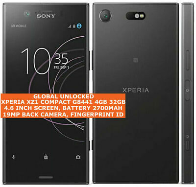 AU665.98 • Buy SONY XPERIA XZ1 COMPACT G8441 4gb 32gb 19mp Caméra 4.6  Android Lte Smartphone