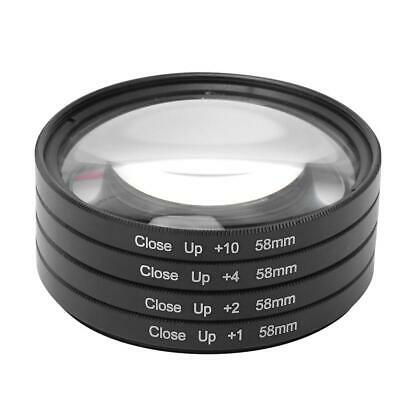 AU15.13 • Buy Newest Optical Glass Macro Close Up Lens Filter Kit 58mm For Canon/Nikon/Sony