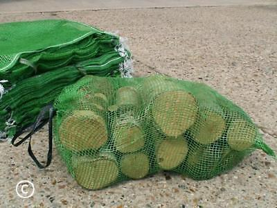 1000 WOVEN STRONG Non-stretchy NET BAGS Kindling Firewood Log Sacks 10kg 46x60cm • 138£