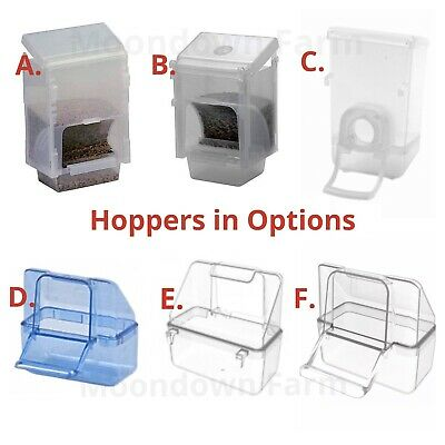 Bird Cage Seed Hopper Feeder / Feeders For Finches Canary Budgie In Options • 4.95£