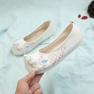 Ancient Women Embroidered Cloth Shoes Chinese Old Beijing Hanfu Dance Shoes • 20.35£