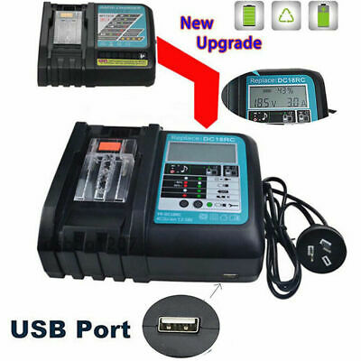 £20.99 • Buy For Makita DC18RC Replacement Fast Battery Charger LCD Screen 7.2V-18V UK Plug`