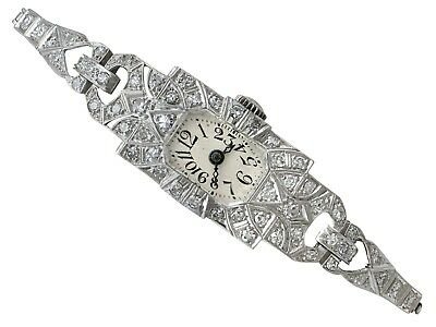 Antique Art Deco 1.86ct Diamond And Platinum Ladies Cocktail Watch 1920s • 2,195£