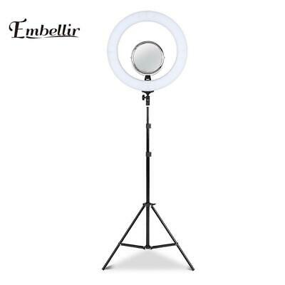 AU71.20 • Buy Embellir LED Ring Light With Stand 19  Tripod Silver Phone Camera Dimmable Diva