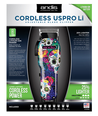 Andis Professional Cordless Uspro  Li (us Pro)  (lcl) (73090) Skull Design • 99.99£