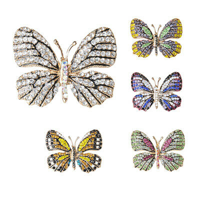Stunning Rhinestone Butterfly Brooch Pin Wedding Party Bridal Dress Jewelry • 4.84£