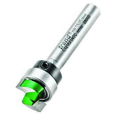 Trend Router Bit C121K X 1/4 TC Template Guided Profile Trimmer 12.7mm X 4MM • 19.99£