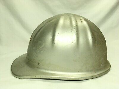 Vintage McDonald T MSA Aluminum Hard Hat Helmet Government Mine Safety • 38.80$