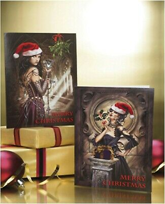 £7.99 • Buy New~ Pack Of 12 Gothic Christmas Cards - Each Pack Has 2 Pictures - Both Wicked!