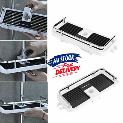 AU19.75 • Buy Shower Caddy Holder Organiser Pole Tray No Drills AU Storage Bathroom Shelf