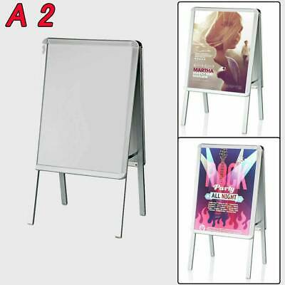 £27.79 • Buy A2 Pavement Sign Poster Display Snap Frame Shop Standing Menu Double Side Board
