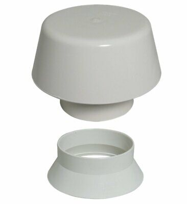 White Vent Kit 110mm Vent Cowl & Weather Collar Soil Pipe Stack Mushroom Vent • 14.95£