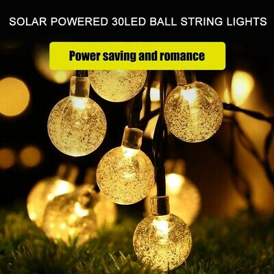 30LED Globe Balls String Lights Home Garden Yard Party Lamp ( Solar Powered ) • 3.38£