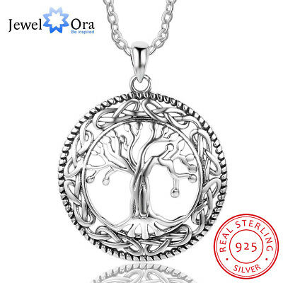 Tree Of Life Mom Necklace 925 Sterling Silver Pendant Jewelry Gift For Women • 9.99$