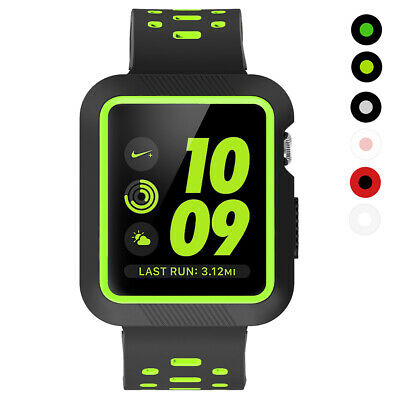 $ CDN14.45 • Buy Replacement Silicone Strap Bands + Case For Apple Watch 38mm 42mm Series 3/2/1