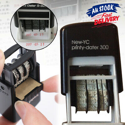 AU10.99 • Buy Mini Rubber Business Office Self-Inking Supplies S3 Stationery Date Stamp