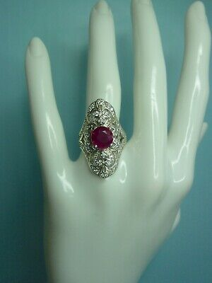 Stunning Long Ruby Cocktail Ring • 145£