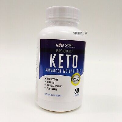 $14.89 • Buy VN Vital Nutrition Pure Keto Diet Keto Advanced Weight Loss Pills 60 Capsules