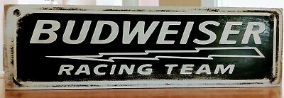 $ CDN17.01 • Buy Budweiser Racing Team  Wooden Sign