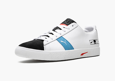 Puma Clyde Hacked Archive White Black Blue Red 372784 02 Size 8-13 • 85.05£