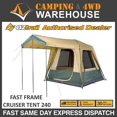AU199.99 • Buy Oztrail 4 Person Fast Frame Cruiser 240 - Fast Frame Instant Up Camping Tent