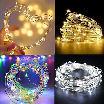 50/100 LED USB String Fairy Lights Copper Wire XMAS Tree Party Decor Waterproof • 3.48£