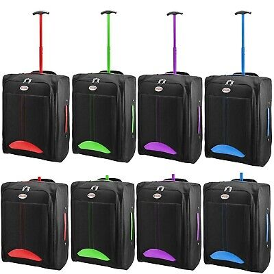 £10.99 • Buy Cabin Bag Approved Flight Trolley Suitcase Luggage Case Ryanair Easyjet Hm06