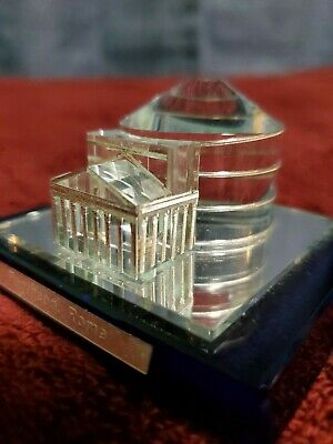 Crystal Pantheon Rome Italy Souvenir Building Replica Architecture Model • 39$