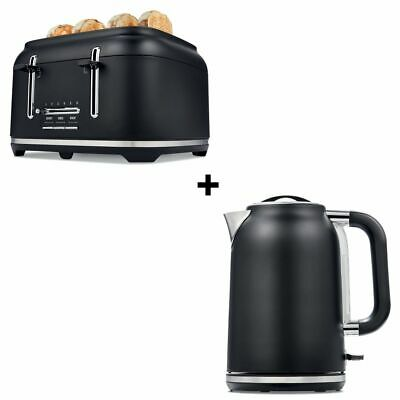 AU67.95 • Buy Black Toaster 4 Slice Cordless 1.7L Kettle Stainless Steel Electric Kitchen Set