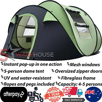 AU139.97 • Buy Weisshorn Instant Up 4-5 Person Camping Tent Family Hiking Beach Tents Swag