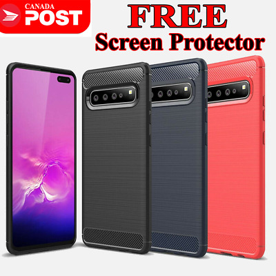 $ CDN7.79 • Buy Samsung Galaxy S10 S8 S9 Plus S10e Carbon Fiber Heavy Duty Shockproof Case Cover