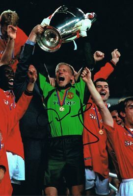 Signed Peter Schmeichel Manchester United Champions League 1999 Autograph Photo • 49.99£