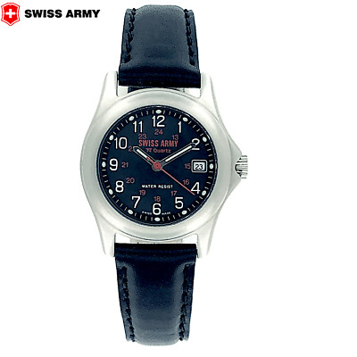 Women's SWISS ARMY S.A.W. CO  Steel Date W/R 5 ATM Quartz 28 MM Watch Ref 1569 • 92.78£