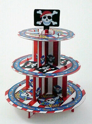 £8.95 • Buy Pirate Party 3 Tier Cupcake Stand