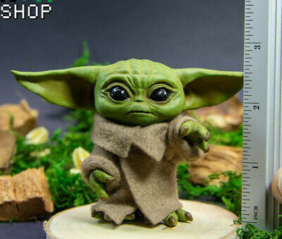 $59.99 • Buy Baby Yoda Figurine Inspired By Mandalorian, Star Wars Figure Handcrafted ToORDER