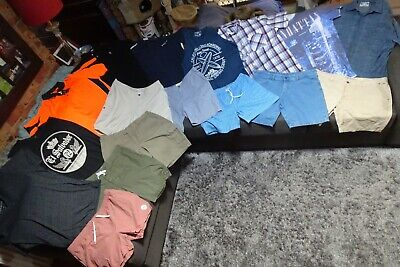 AU137 • Buy Bulk Lot Men's Sz 38 X-Large Summer Clothes Dickies/Industrie/Connor/Adidas Golf