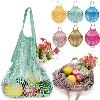 1PC Mesh Net Cloth Turtle Bag String Shopping Bag Reusable Fruit Storage Handbag • 3.69£