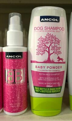 Ancol Dog BB Shampoo Cologne Baby Powder Scent Gift Set For Dogs • 7.50£