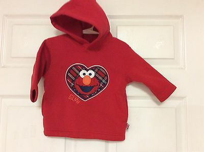 $8.99 • Buy Sesame Street Boys Pullover Size 12 Months Red  Elmo  New 108