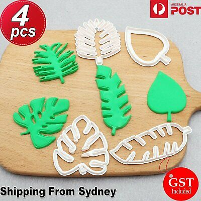 AU6.99 • Buy Palm Tree Turtle Leaf Cookies Biscuit Cutter Fondant Mould Cake Sugarcraft Mold