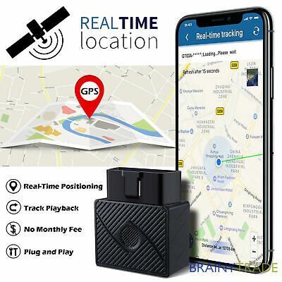 OBD2 GPS-Tracker Real Time Car Vehicle Tracking Device Spy System Locator Alarm • 10.99£