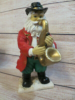 $ CDN13.62 • Buy Santa Jazz Blues Holiday Christmas Resin Figure Saxophone Instrument Music