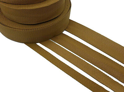 £3.99 • Buy Khaki COTTON THICK CANVAS WEBBING BELTING FABRIC STRAP Twill Tape Sewing DIY
