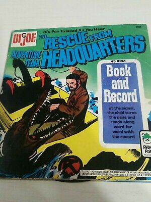 $ CDN32.66 • Buy GI Joe Rescue From Adventure Team Headquarters Book & Record-Peter Pan-Nice!