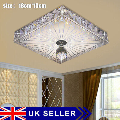 £11.89 • Buy Square LED Crystal Ceiling Down Light Panel Wall Kitchen Bathroom Lamp Cool NICE