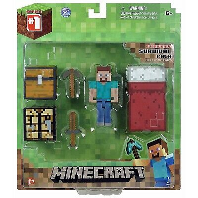 AU18.95 • Buy Minecraft Overworld Core Survival Pack - Series 1