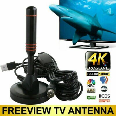 HighGain Antenna TV Aerial For Freeview HD / DAB Radio With Magnet Base 1080P UK • 10.98£